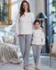 Penye Mood 8247 Çocuk Yarı Polar Pijama Takım