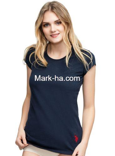 US Polo 66054 Bayan Yuvarlak Yaka Tişört