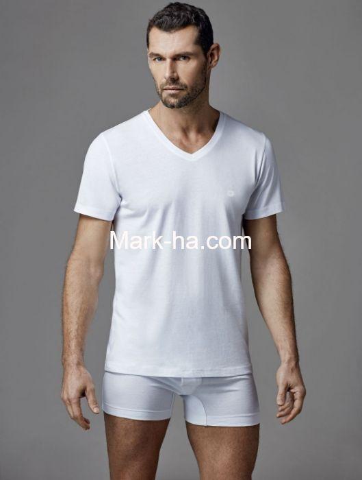 Dagi D1040 Erkek V Yaka 2'li Kısa Kol Tişört