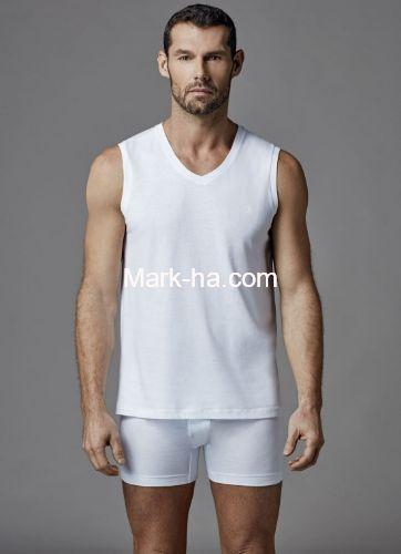Dagi D1070 Erkek V Yaka 2'li Kolsuz Tişört