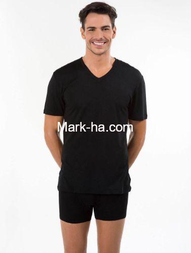 Kom Antonio Erkek V Yaka Tişört