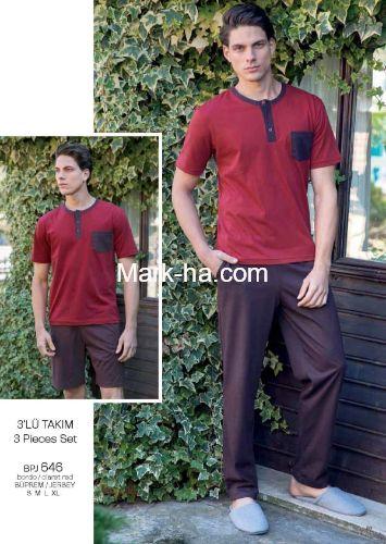 Yeni İnci EPJ 646 3'lü Erkek Pijama Takım