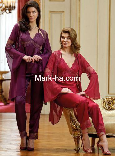 Nurteks Saten Pijama Takım 5958
