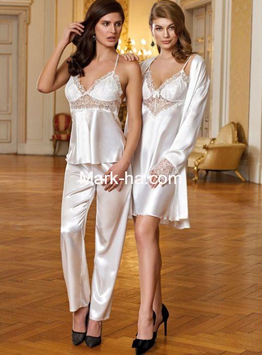 Nurteks Pijamalı 4'lü Gecelik Takım 6497