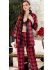 Jeremi Saten Üçlü Pijama Takım 3064