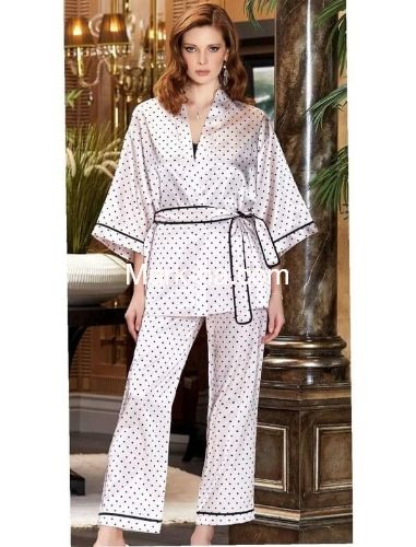 Jeremi Saten Üçlü Pijama Takım 3097