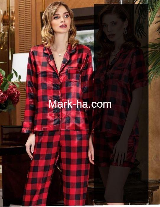 Jeremi Saten Pijama Takım 3183