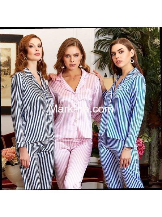 Jeremi Saten Pijama Takım 3029