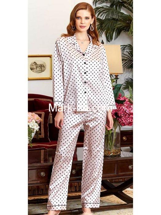Jeremi Saten Pijama Takım 3196