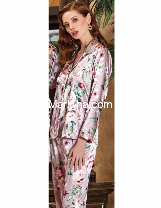 Jeremi Saten Pijama Takım 3233
