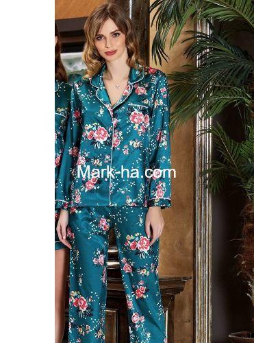 Jeremi Saten Pijama Takım 3190