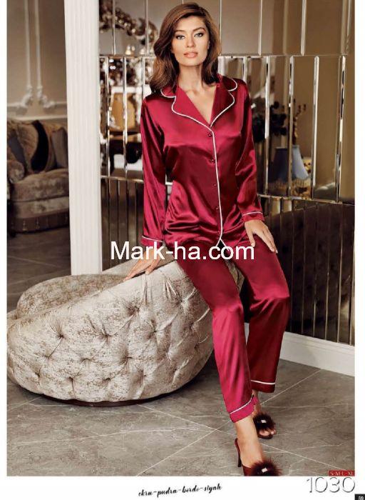 Perin Saten Pijama Takım 1030-3