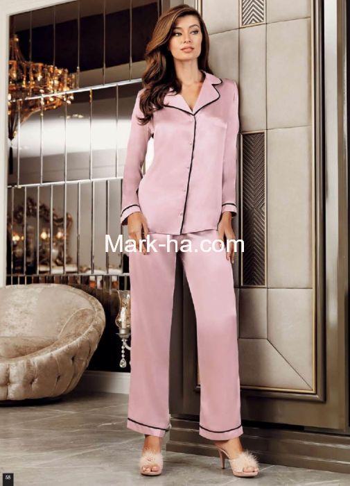 Perin Saten Pijama Takım 1030-4