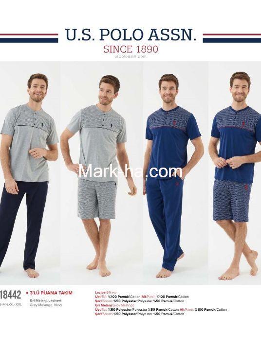 Us Polo Erkek Üçlü Pijama Takımı 18442