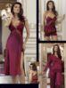 6 Pcs Satin Nightgown Set Perin 8060-4