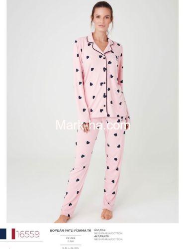 US Polo Boydan Patlı Pijama Takımı 16559