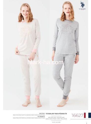 US Polo Yuvarlak Yaka Pijama Takımı 16627