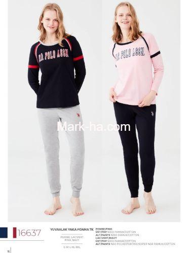 US Polo Yuvarlak Yaka Pijama Takımı 16637