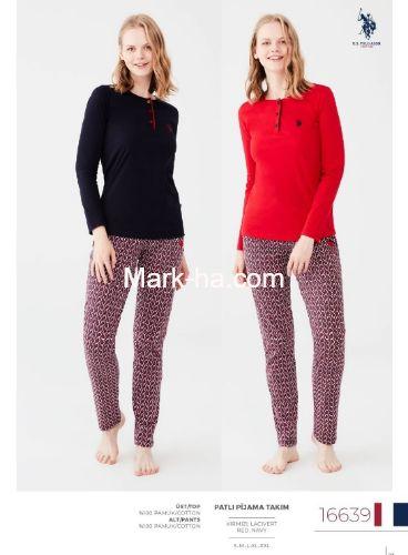 US Polo Patlı Pijama Takımı 16639