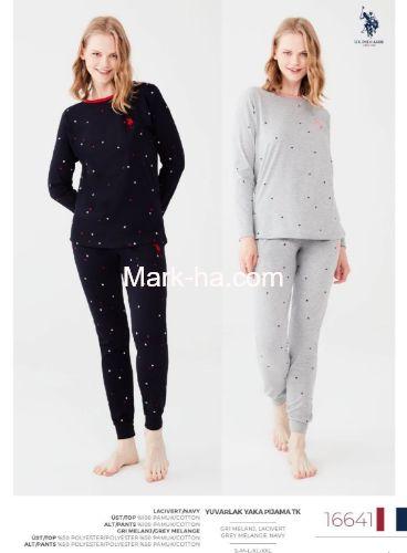 US Polo Yuvarlak Yaka Pijama Takımı 16641