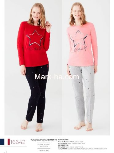 US Polo Yuvarlak Yaka Pijama Takımı 16642