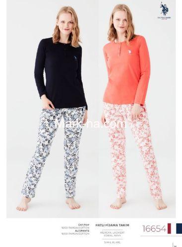 US Polo Patlı Pijama Takımı 16654
