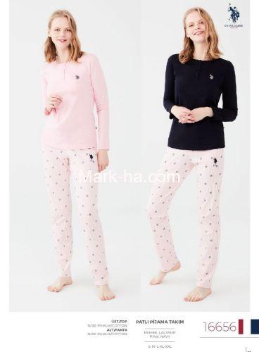 US Polo Patlı Pijama Takımı 16656