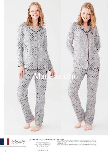 US Polo Boydan Patlı Pijama Takımı 16648