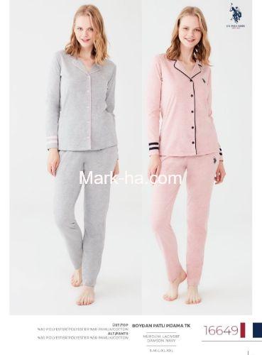 US Polo Boydan Patlı Pijama Takımı 16649