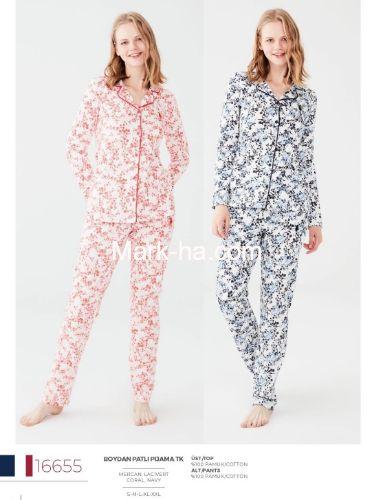 US Polo Boydan Patlı Pijama Takımı 16655