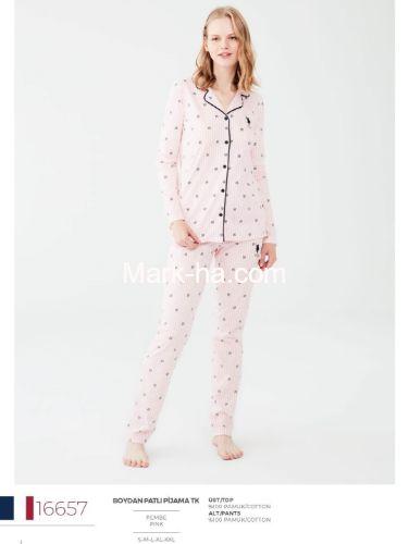 US Polo Boydan Patlı Pijama Takımı 16657