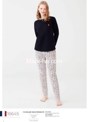 US Polo Yuvarlak Yaka Pijama Takımı 16645