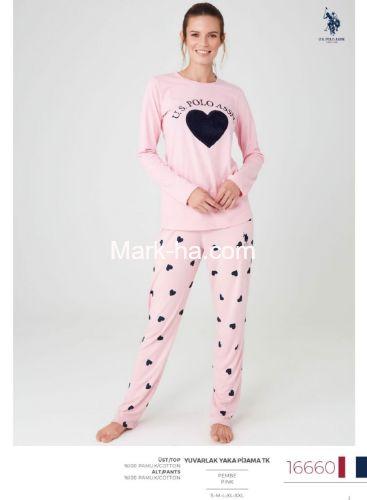 US Polo Yuvarlak Yaka Pijama Takımı 16660