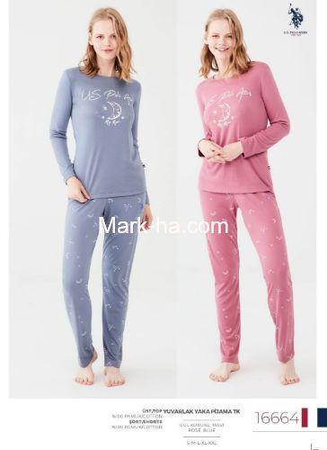 US Polo Yuvarlak Yaka Pijama Takımı 16664