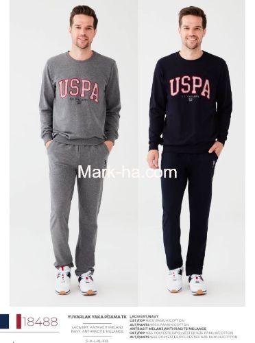 Us Polo Erkek Yuvarlak Yaka Pijama Takım 18488