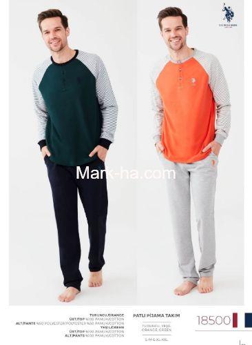Us Polo Erkek Patlı Pijama Takım 18500