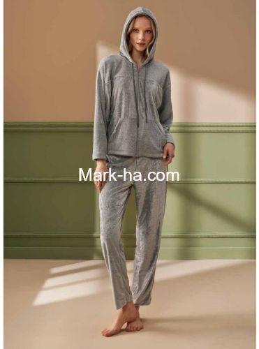 Feyza Kapüşonlu Pijama Takımı 4208