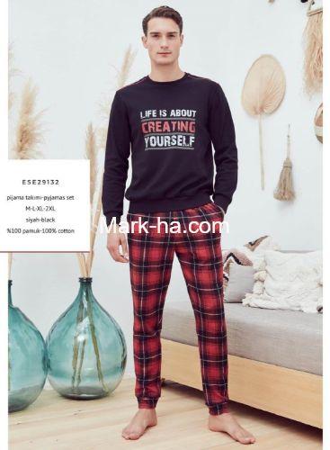 Eros Erkek O Yaka Pijama Takım ESE29132