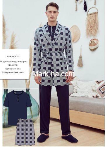 Eros Erkek 5 Parça Sabahlıklı Pijama Takım ESE29230
