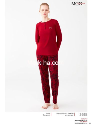 Mod Collection Büyük Beden Pijama Takımı 3618