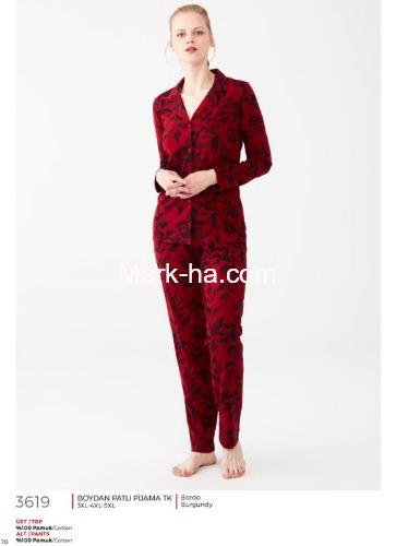 Mod Collection Büyük Beden Pijama Takımı 3619