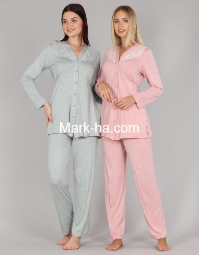 Bone Club Melanj Pijama Takım 5323