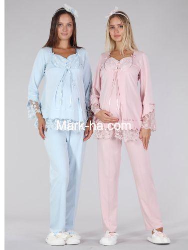 Bone Club Hamile Pijama Takım 5321