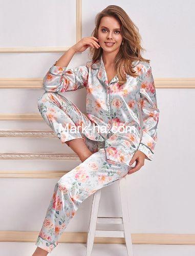 Nurteks Saten Pijama Takım 5654