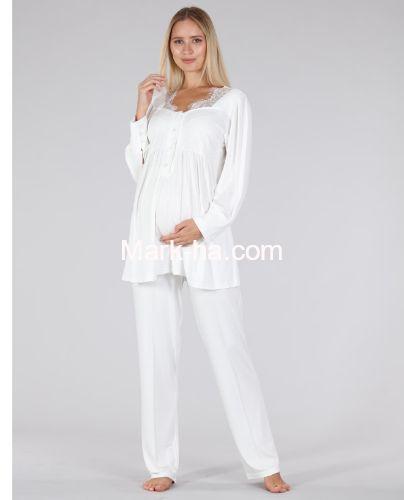Bone Club Hamile Pijama Takım 5327-2