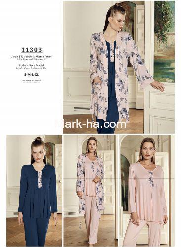 Artış Sabahlıklı Pijama Takım 11303