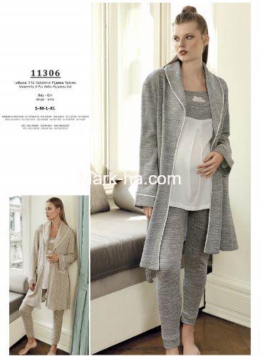 Artış Lohusa Üçlü Pijama Takım 11306