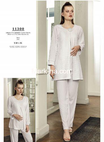 Artış Lohusa Üçlü Pijama Takım 11300