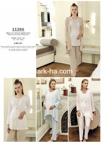 Artış Lohusa Üçlü Pijama Takım 11304