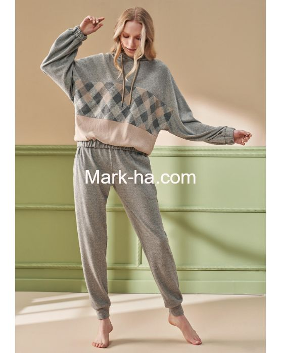 Feyza Kapüşonlu Pijama Takımı 4200
